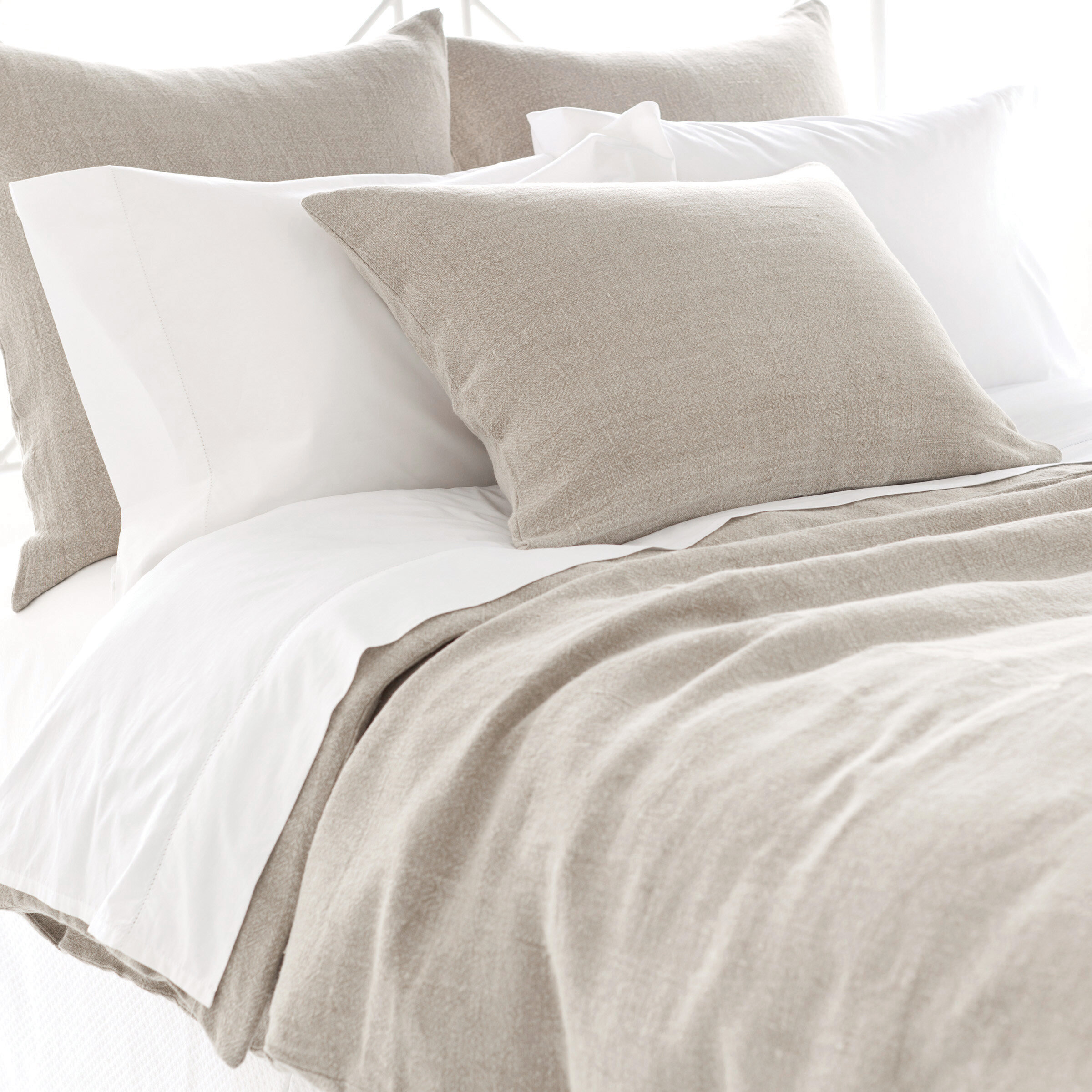 Pine cone hill stone washed linen duvet cover collection reviews wayfair