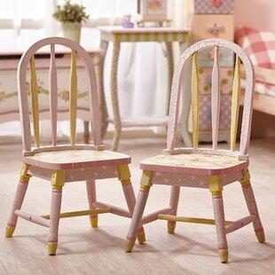 Crackled Rose Kids Desk Chair (Set Of 2)