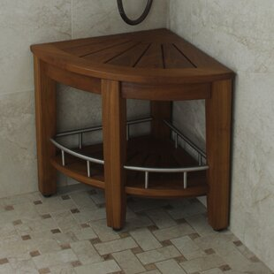 Teak Corner Shower Bench | Wayfair