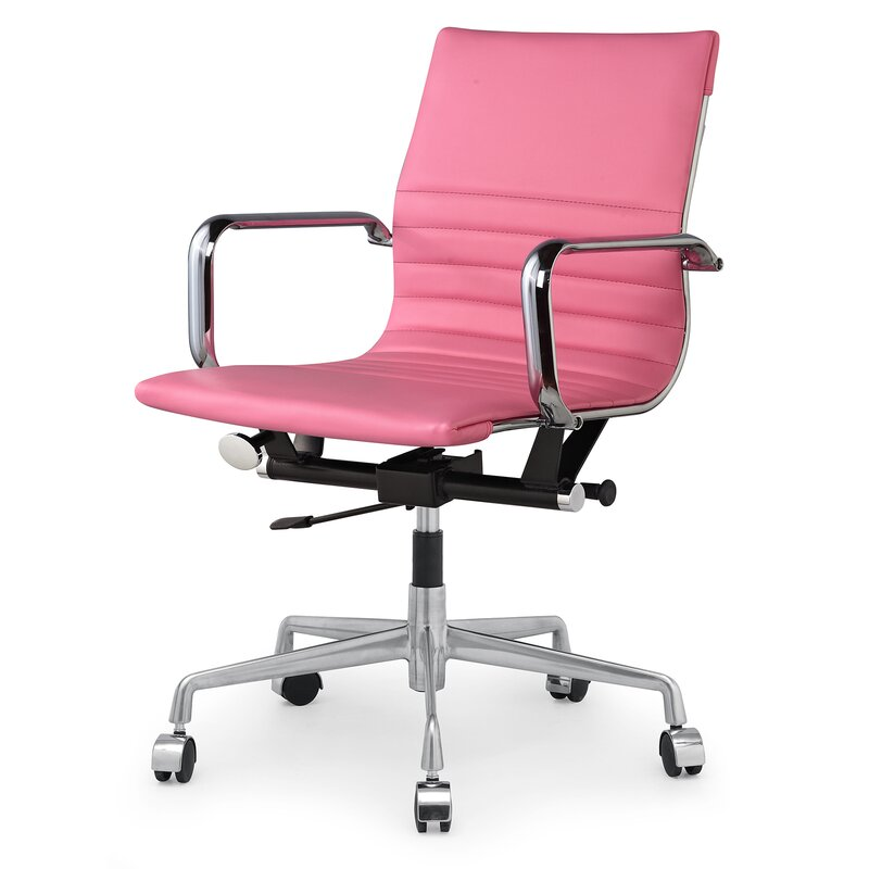 Meelano Vegan Leather Office Chair & Reviews | Wayfair