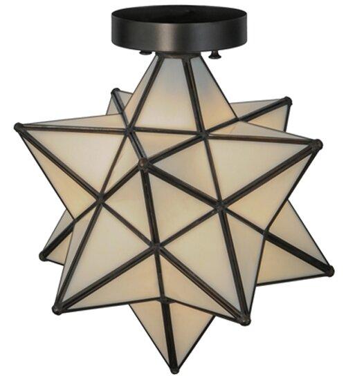 Meyda Tiffany Moravian Star 1-Light Flush Mount & Reviews