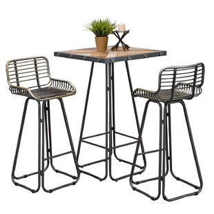 Villani 3 Piece Pub Table Set