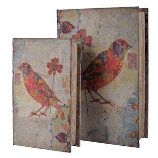 2 Piece Bird Book Box Set  sc 1 st  Wayfair & Storage Book Box | Wayfair