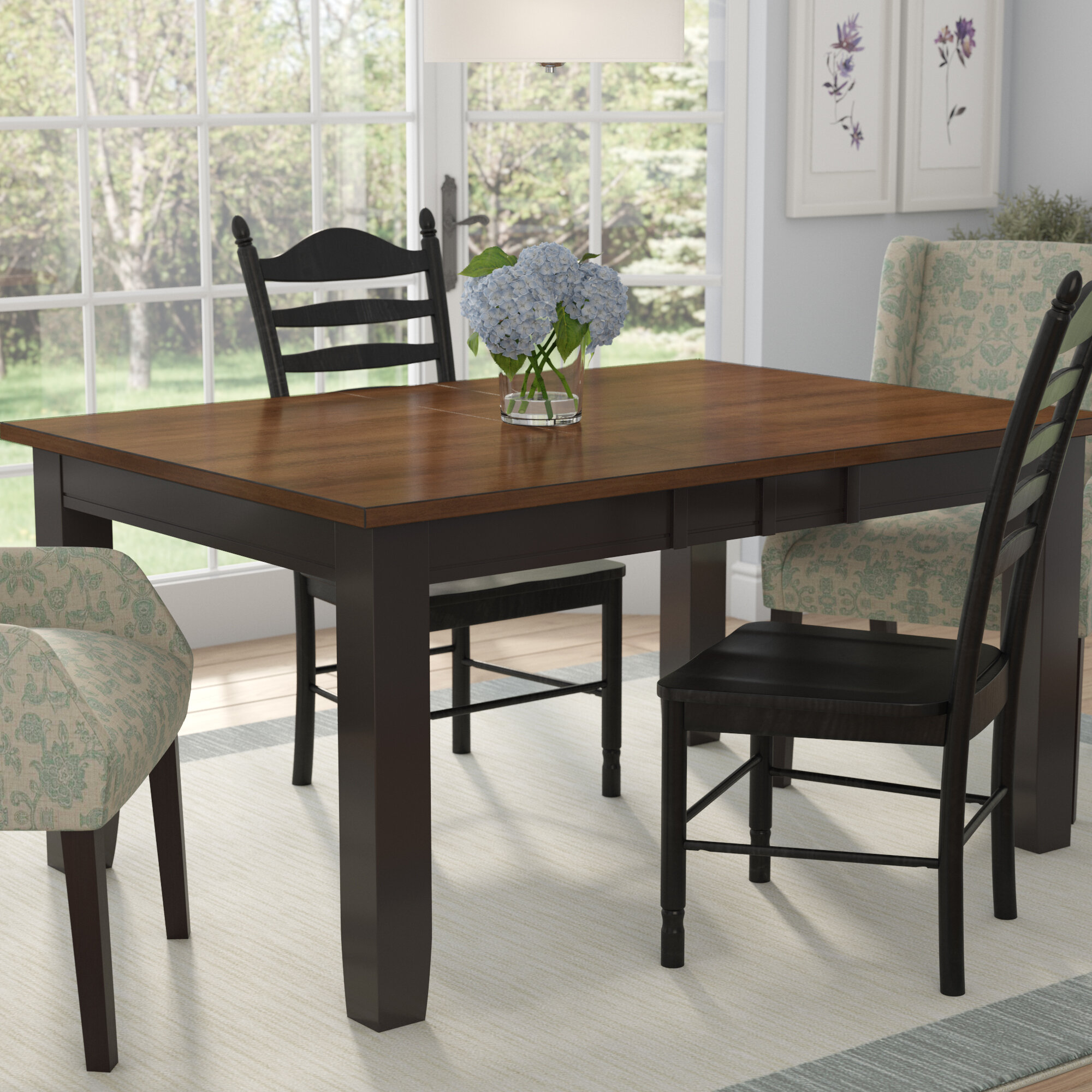 extendable dining room table Three Posts Griffey Extendable Dining Table & Reviews | Wayfair extendable dining room table