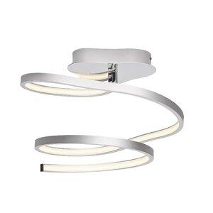 Carissa White Acrylic 1-Light  Semi Flush Mount