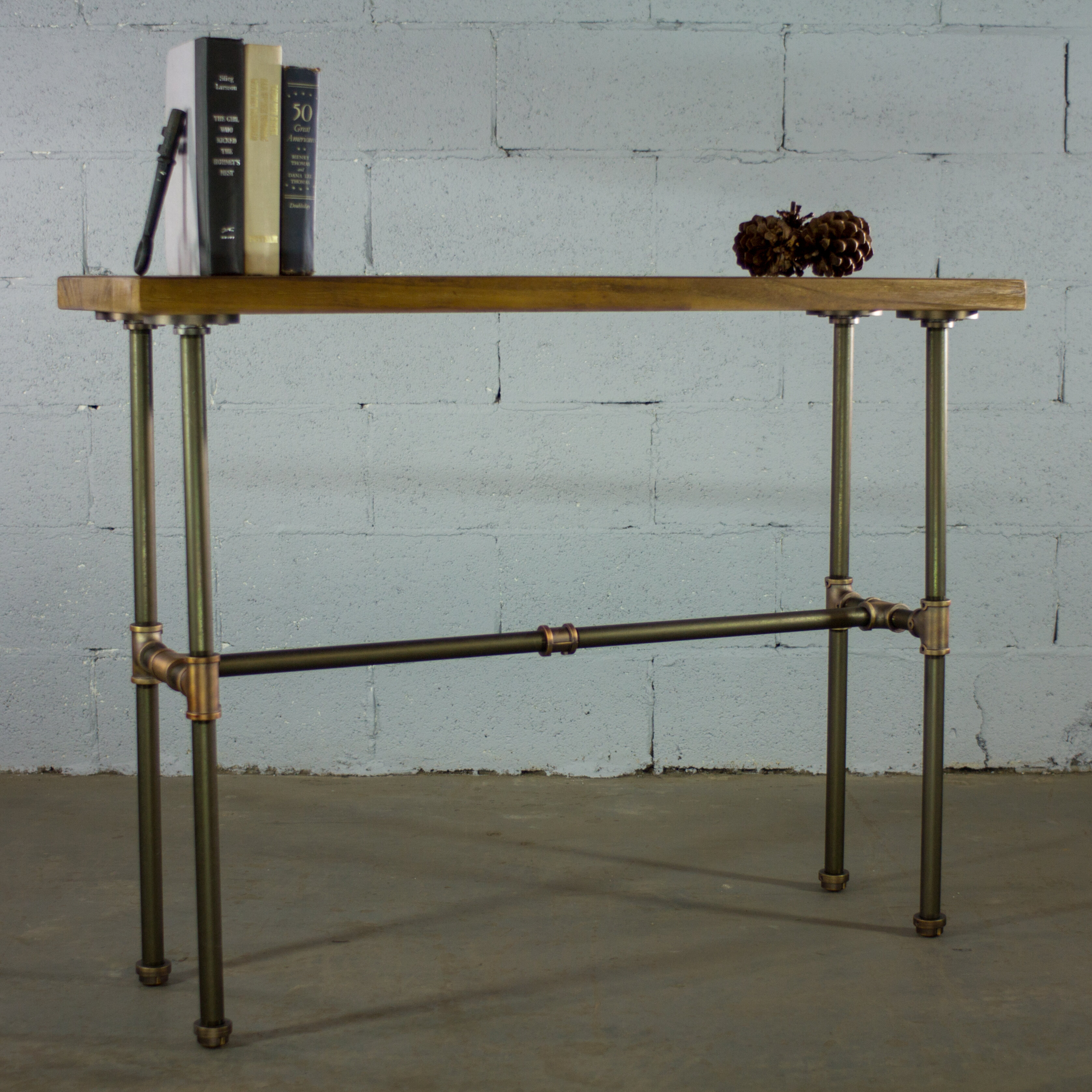 Charmant Cissell Industrial Chic Console Table