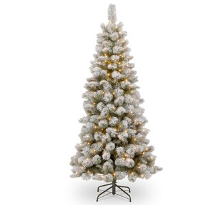 white christmas trees youll love wayfair - Large Christmas Tree