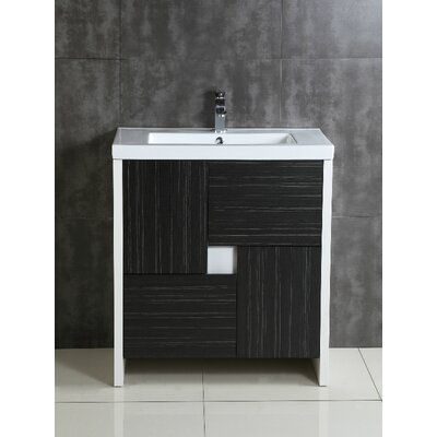 Modern mid century bathroom vanities allmodern - Mid century modern double bathroom vanity ...