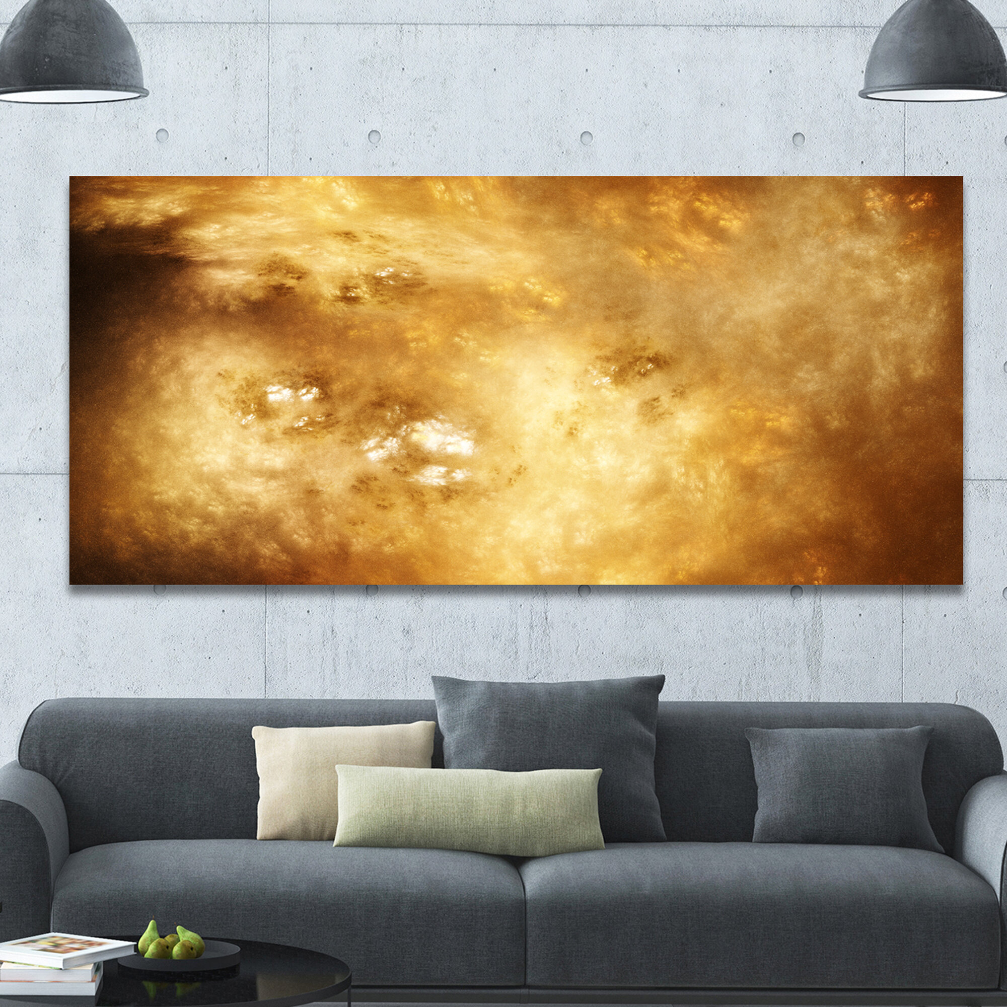 DesignArt \'Perfect Brown Starry Sky\' Graphic Art on Wrapped Canvas ...