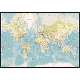 World map pinboard wayfair world map retro graphic art wrapped on canvas gumiabroncs Choice Image