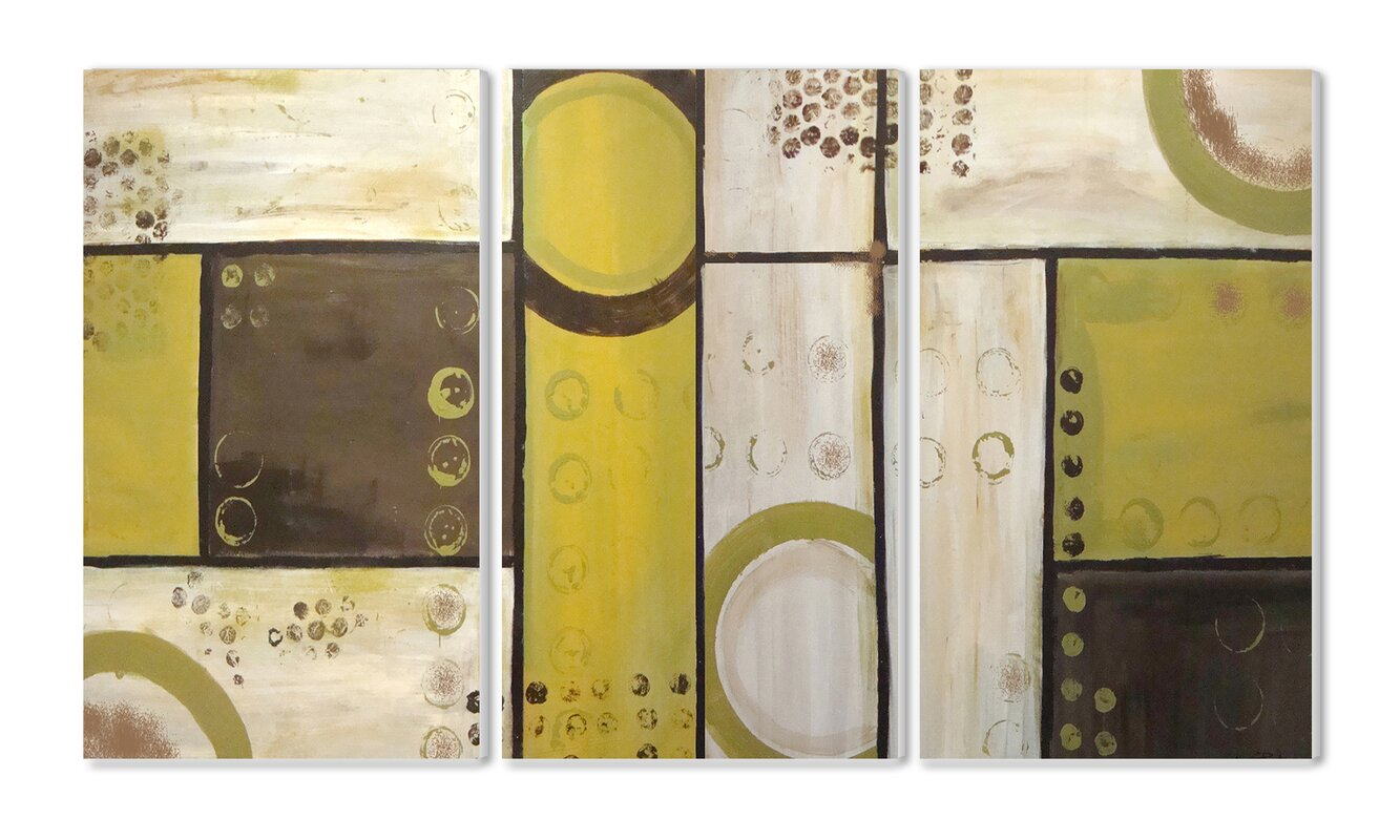 Wrought Studio Yonkers Triptych 3 Piece Graphic Art Wall Plaque Set ...