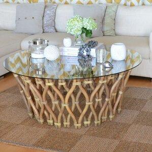 hoop rattan coffee table