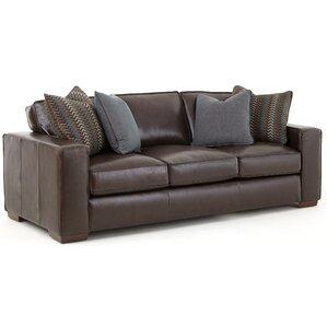 Tennison Leather Sofa by Brayden Studio