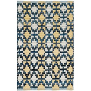Saleem Hand-Woven Gold/Navy Area Rug