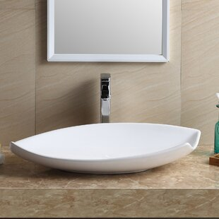 Bathroom sink Round Modern Vitreous China Specialty Vessel Bathroom Sink Allmodern Modern Bathroom Sinks Allmodern