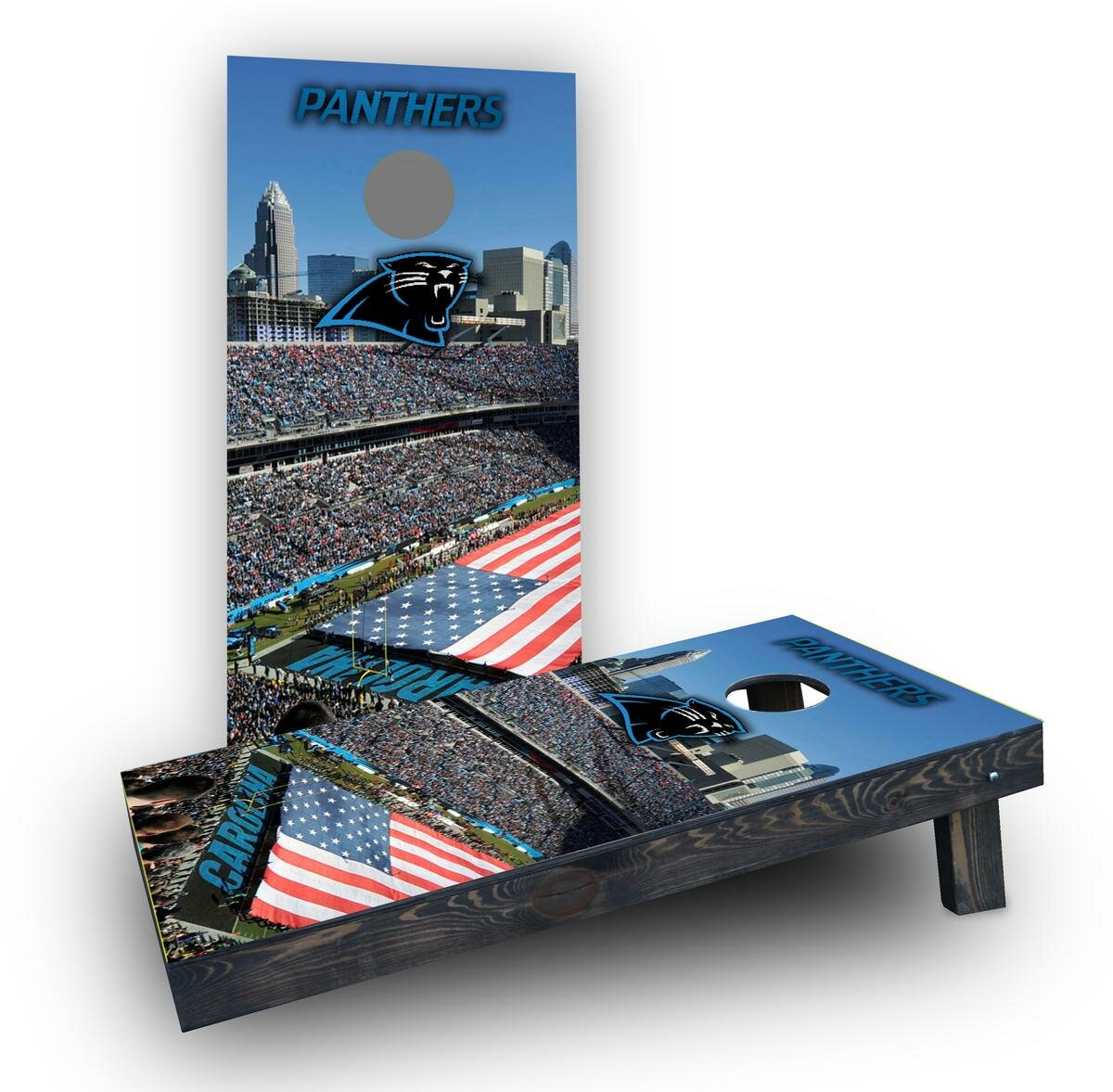 Custom Cornhole Boards Nfl Stadium Carolina Panthers Cornhole