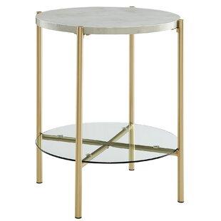 white round end table. Save White Round End Table