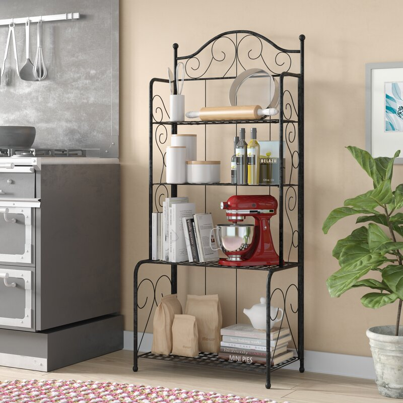 Three Posts Snowberry Wrought Iron Bakers Rack Reviews Wayfair