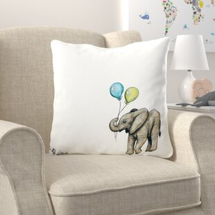 Brianna Nursery Elephant Throw Pillow
