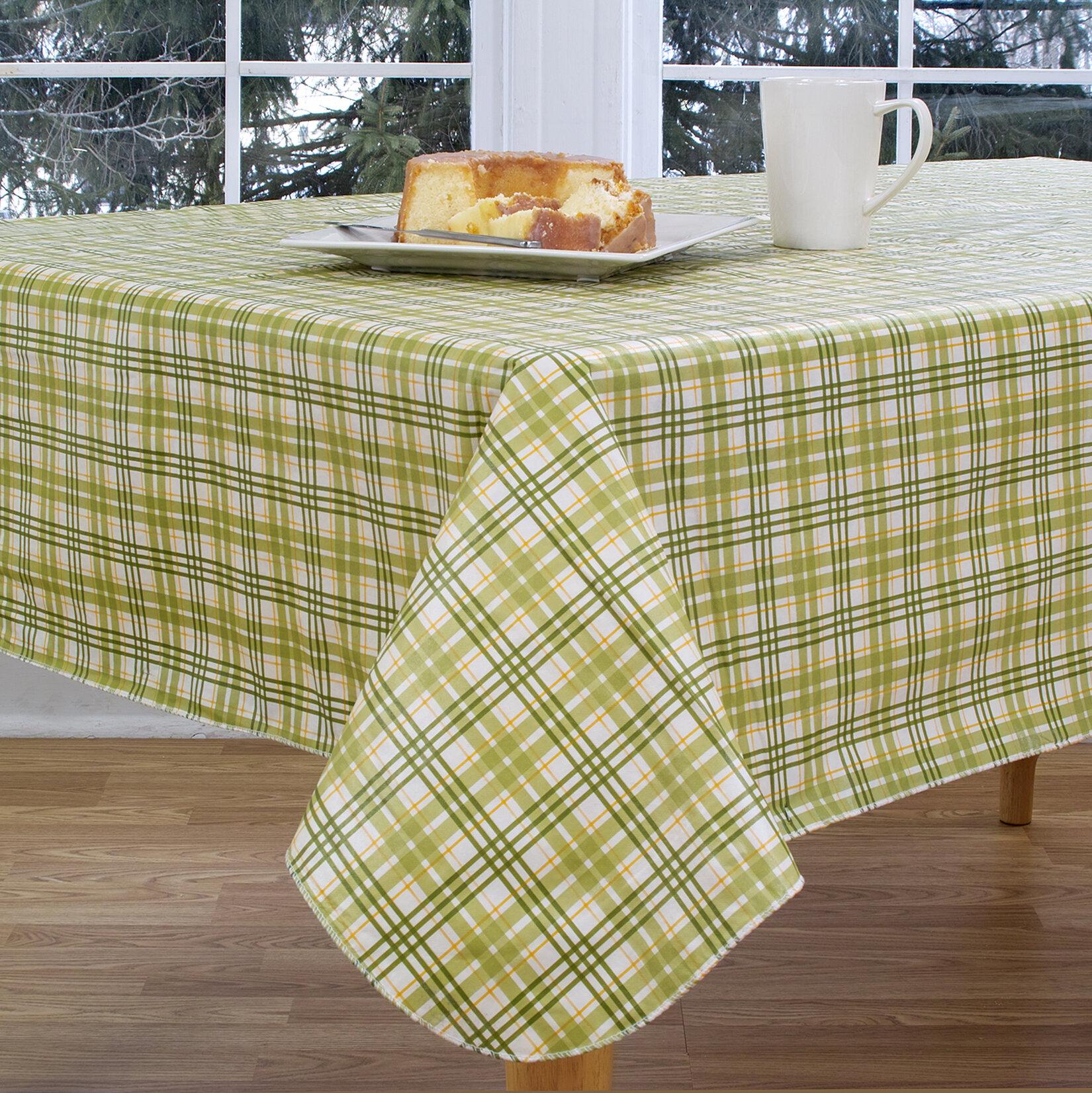 The Holiday Aisle Homestead Plaid Vinyl Tablecloth U0026 Reviews | Wayfair