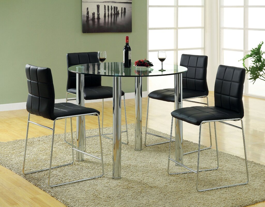 rockaway 5 piece dining set u0026 reviews allmodern