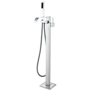 clawfoot tub faucet floor mount. Angel Double Handle Floor Mounted Clawfoot Tub Faucet with Hand Shower Bathtub Faucets You ll Love  Wayfair