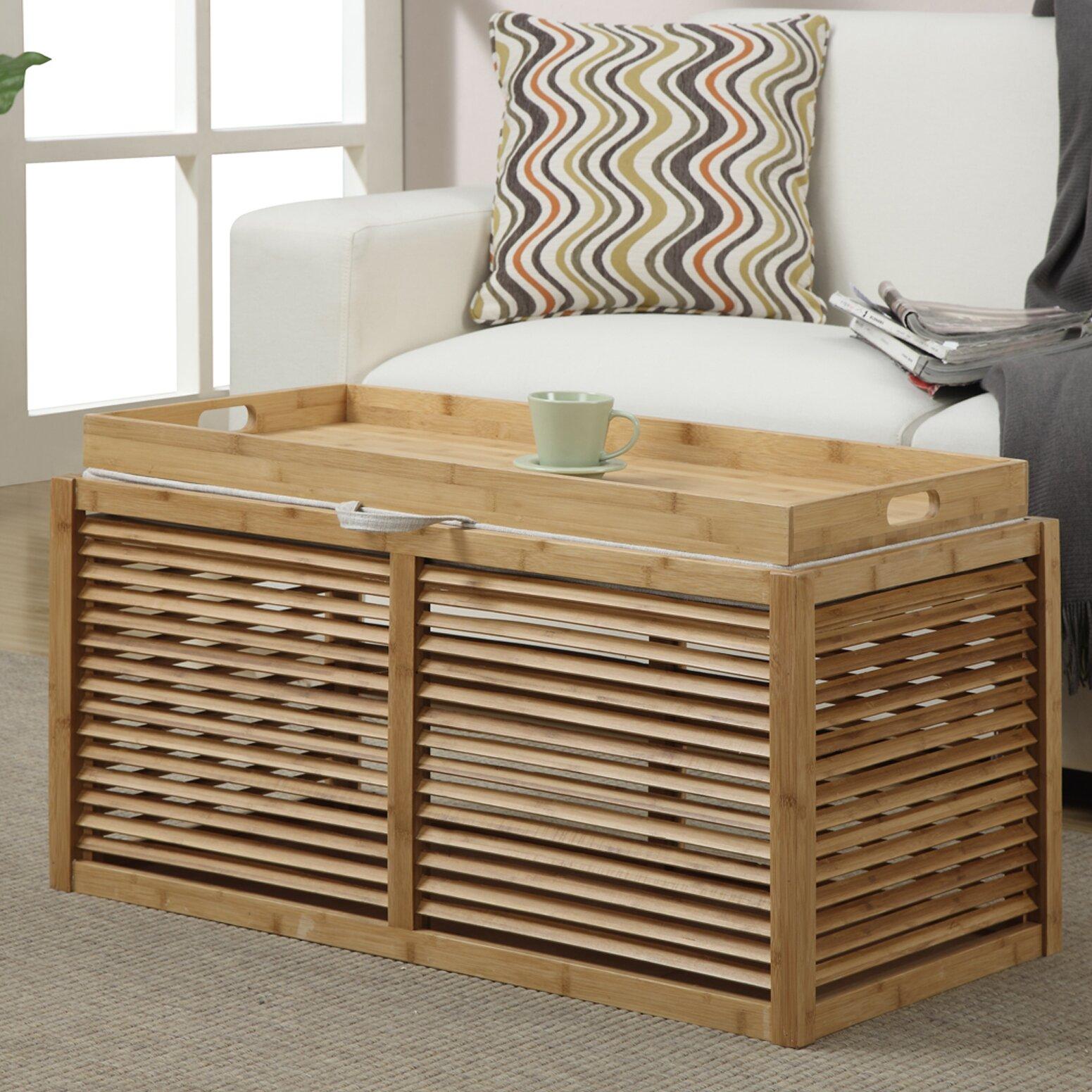 Wyland Double Storage Ottoman - Beachcrest Home™ Wyland Double Storage Ottoman & Reviews Wayfair