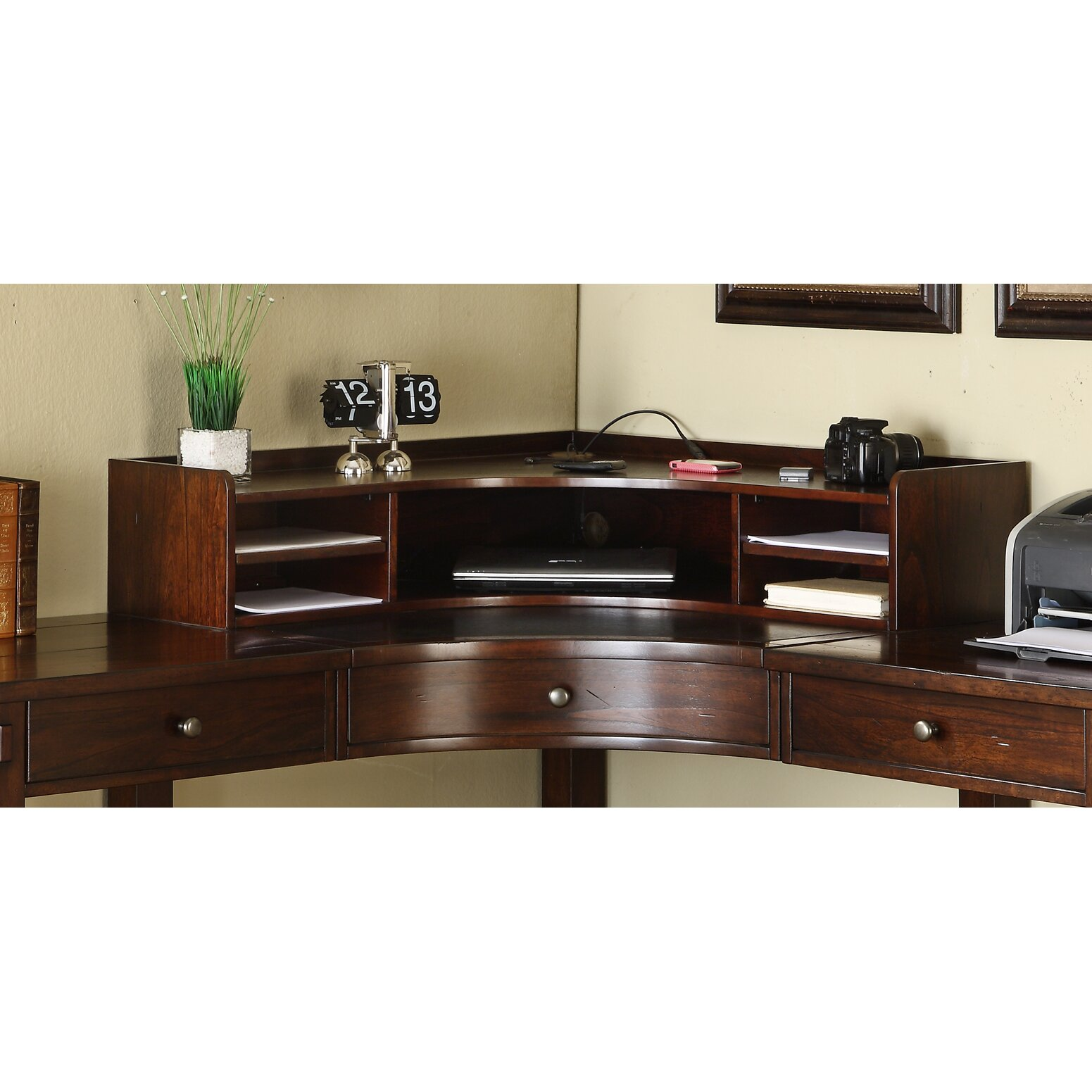 Loon peak baddeck 5 piece l shape desk office suite Peak office furniture