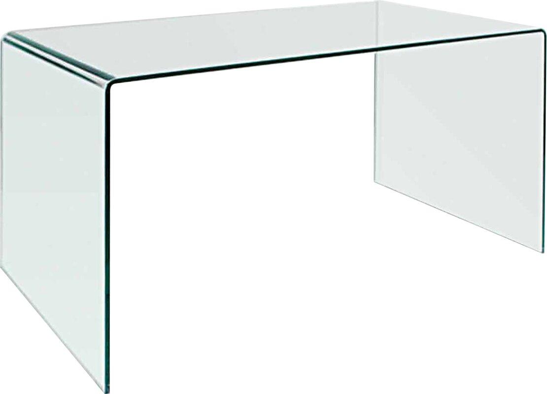 modern glass desks  allmodern - bauer writing desk
