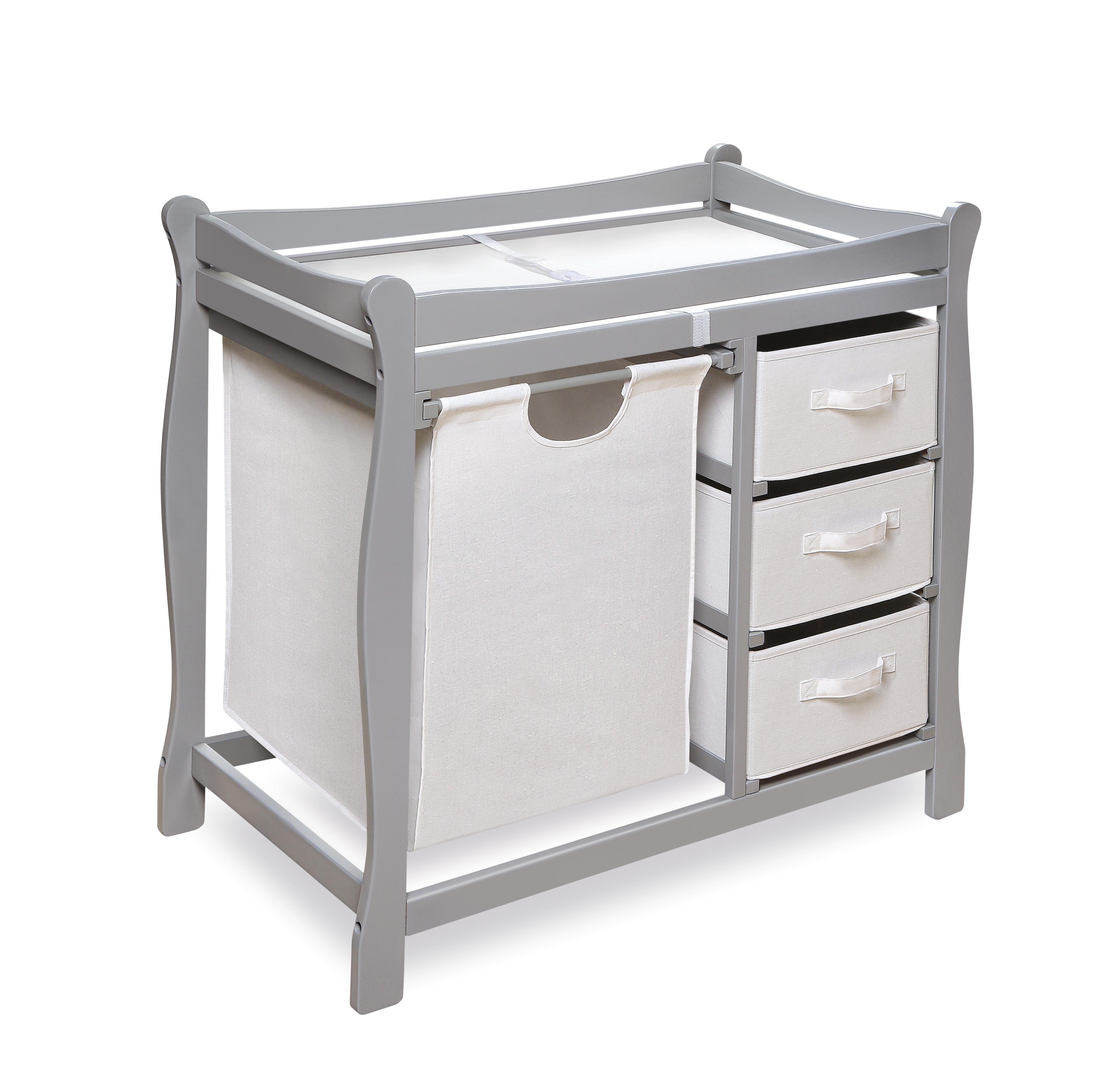 Superbe Modern Changing Table With 3 Baskets And Hamper   Color: Espresso Badger  Basket