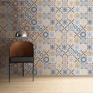 Azulejo Stickers 23 7 W X 31 5 L Stick Mosaic Tile In Cream