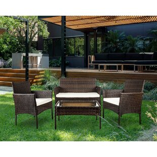 patio furniture clearance. Lia 4 Piece Sofa Set With Cushions Patio Furniture Clearance N