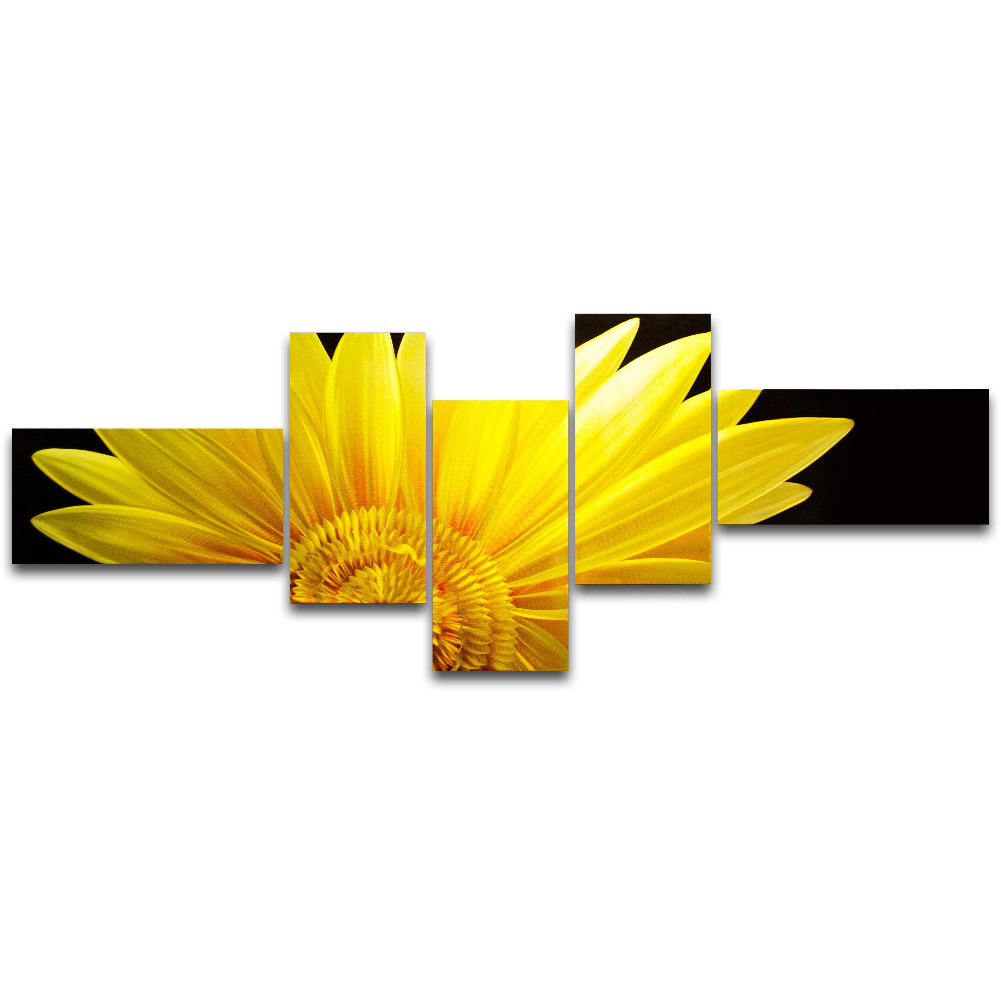MetalArtscape The Sunflower 5 Piece Graphic Art Plaque Set | Wayfair
