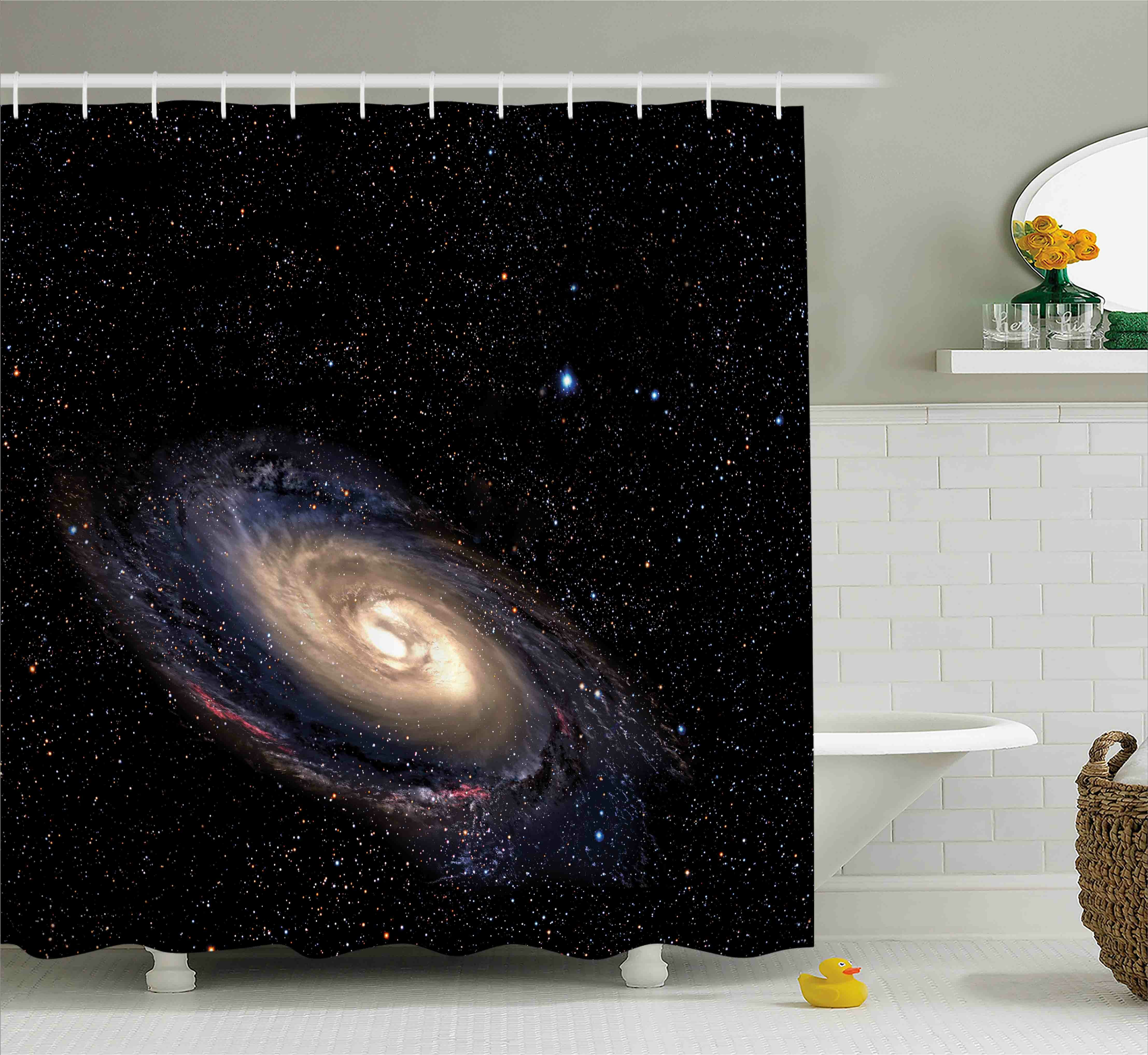 East Urban Home Spiral Space Universe Shower Curtain