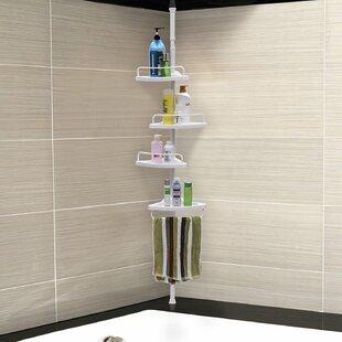Image result for spring rod shelf in wet bath