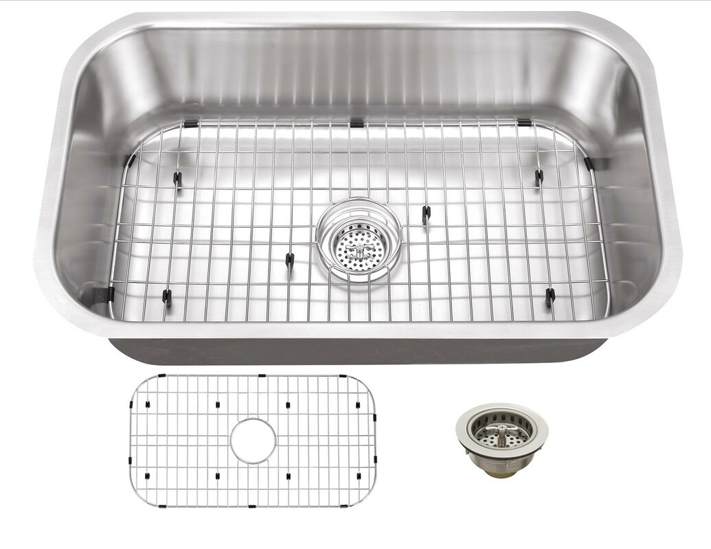 Soleil 16 gauge stainless steel 32 x 18 undermount kitchen sink 16 gauge stainless steel 32 x 18 undermount kitchen sink with drain assembly workwithnaturefo