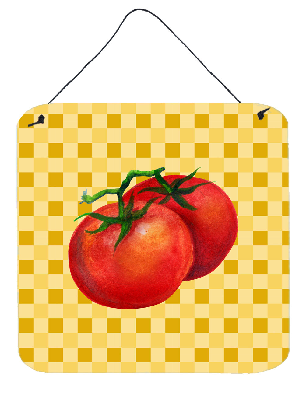 Fleur De Lis Living Tomato on Basketweave Wall Décor   Wayfair