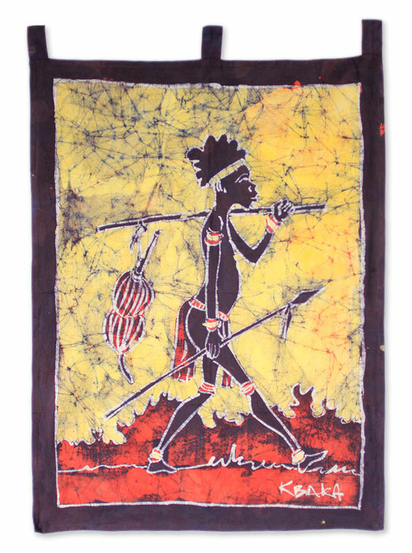 Novica Papa Kofi Cotton Batik by K. Baka Wall Hanging   Wayfair