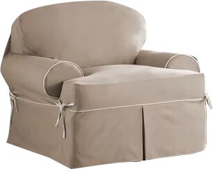 Bon Twill T Cushion Armchair Slipcover