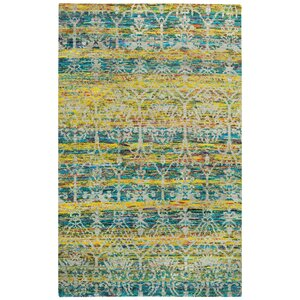 Round About Acrobat Hand Knotted Banana Area Rug