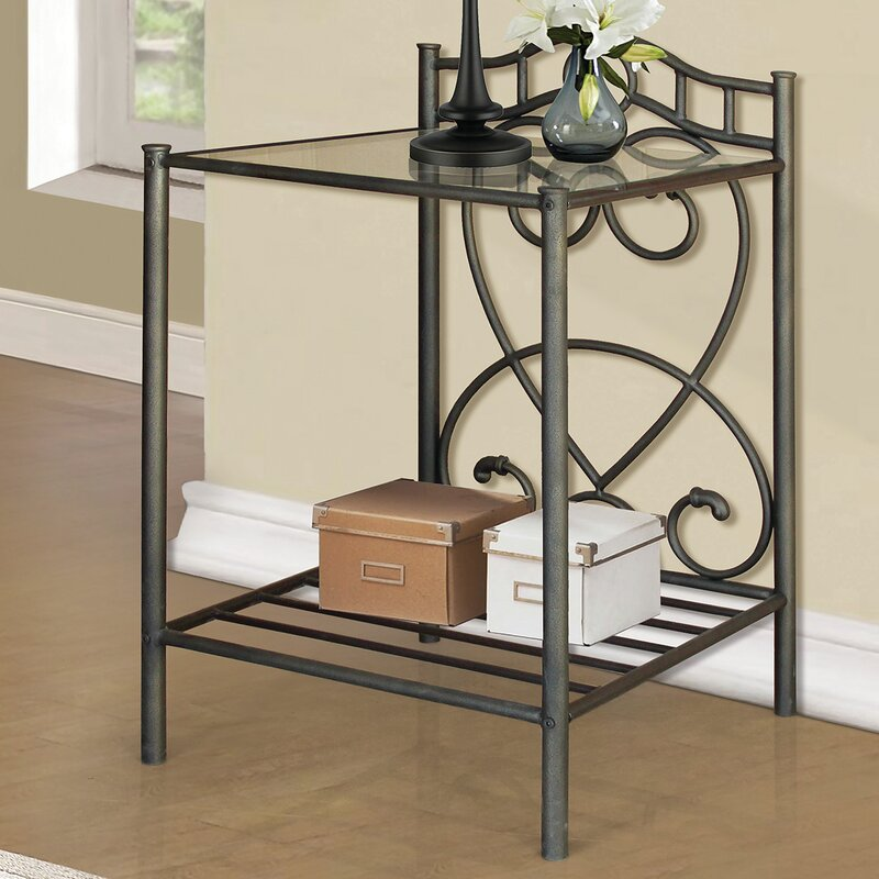 andover mills metal nightstand & reviews | wayfair Metal Nightstand