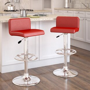 Deen Adjustable Height Swivel Bar Stool (Set of 2)