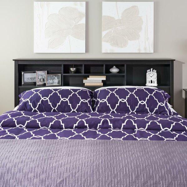 Latitude Run Wanda King Bookcase Headboard Reviews Wayfair. Purple Twin Sauder Beds   xtreme wheelz com