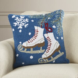 Haggerty Ice Skates Throw Pillow