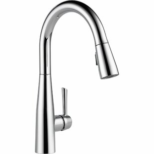 save delta essa pull down single handle kitchen faucet - Pull Down Kitchen Faucet