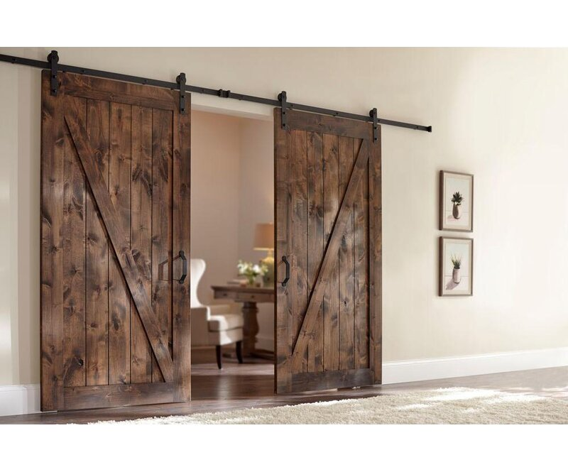 Merry Products Farm Style Solid Wood Panelled Wood Prehung Interior