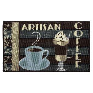 Textured Loop Artisan Coffee Kitchen Area Rug