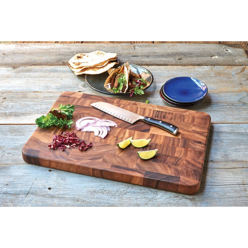 Ironwood Gourmet Gourmet Wood End Grain Prep Station Cutting Board - Restaurant prep table cutting boards