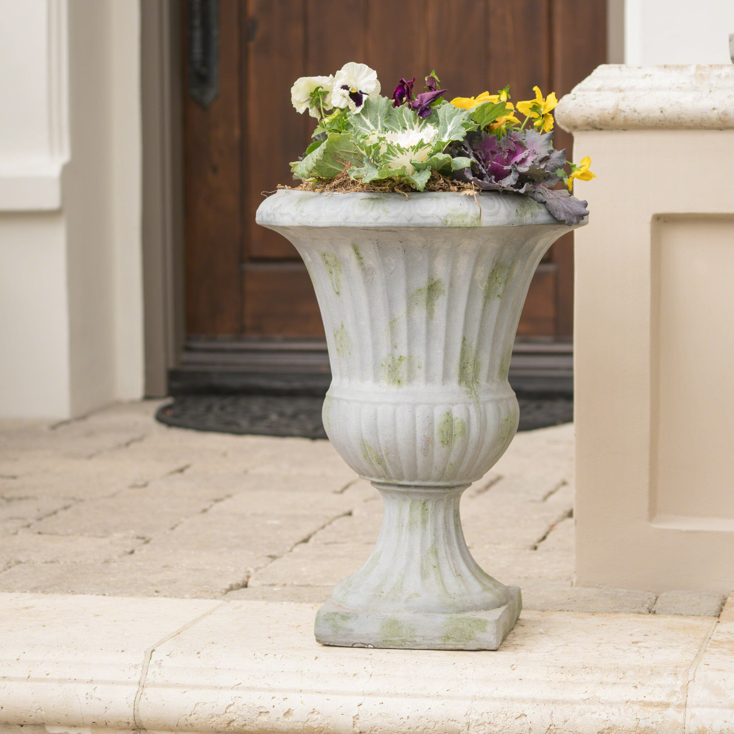 urns garden entrance in planter ideas front pin wood box urn planters
