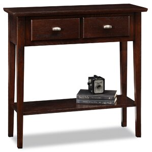 Great Robert Chocolate Oak Console Table